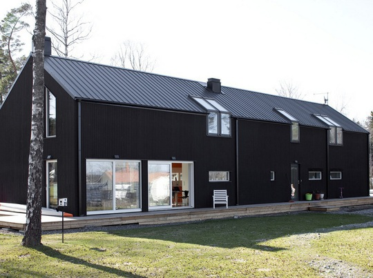 Black Barn on pole barn homes interior