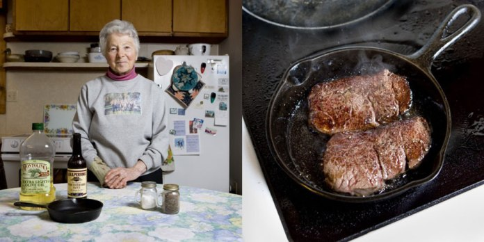 Susann Soresen, 81 years old – Homer, Alaska– MOOSE STEAK -